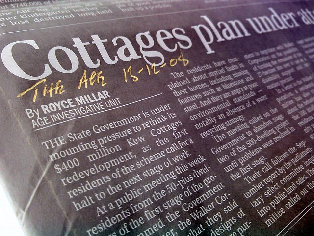 Cottages Plan Under Attack