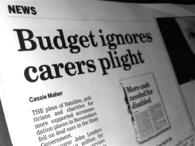 Budget ignores carers plight
