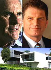 Lang Walker, Kew Cottages                                 Developer, and Ted Baillieu, Premier of                                 Victoria