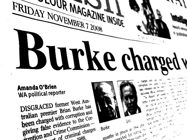 Burke Charged with Corruption
