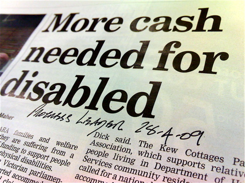 More cash needed for disabled